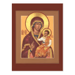 Mother of God of the Seven Lakes Prayer Card Post Card