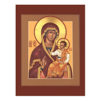 Mother of God of the Seven Lakes Prayer Card Postcard