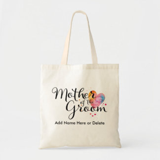 Mother of Groom Budget Tote Bag Watercolor Gift