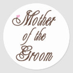 Mother of Groom Classy Browns Classic Round Sticker