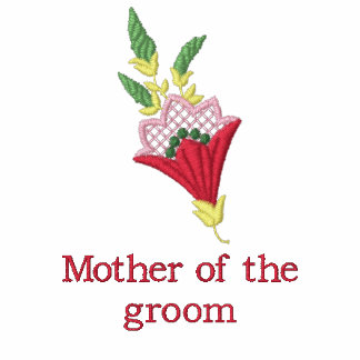 Mother of groom floral embroidered women's t-shirt