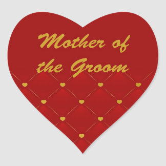 Mother Of Groom (r/g) Heart Sticker