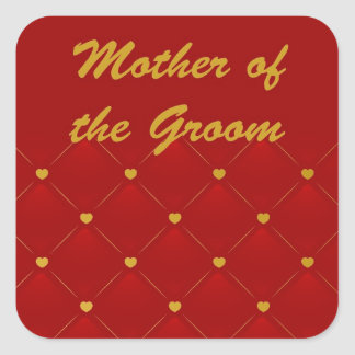 Mother Of Groom (r/g) Square Sticker