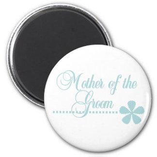 Mother of Groom Teal Elegance 2 Inch Round Magnet
