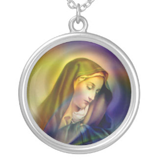 Mother of Love - Necklace. Round Pendant Necklace
