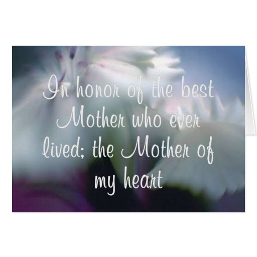 Mother of My Heart Greeting Cards