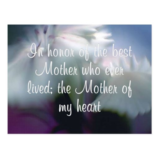 Mother of My Heart Post Cards
