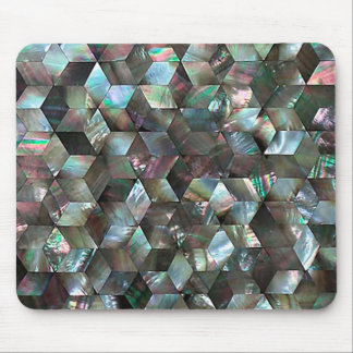 Mother Of Pearl Black Star Diamond Pattern Mouse Pad