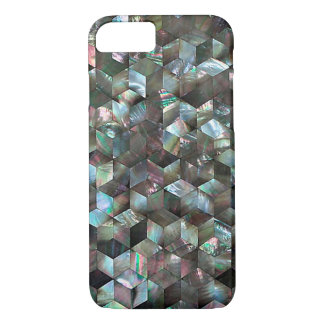 Mother Of Pearl Black Tile Star Diamond iPhone 7 Case