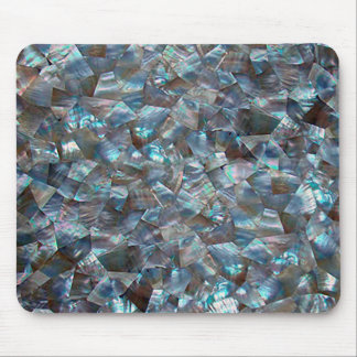 Mother Of Pearl Blue Mouse Pad