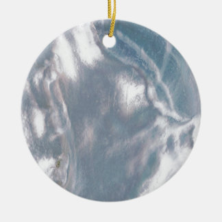 Mother of Pearl-Blue Christmas Ornament