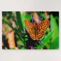 Mother of Pearl Butterfly. Jigsaw Puzzle