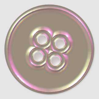 Mother of Pearl Button Classic Round Sticker