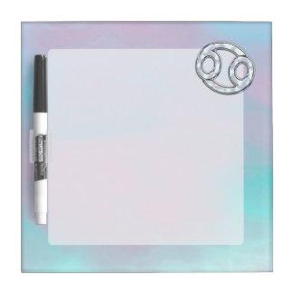Mother of Pearl Cancer Zodiac Symbol Decor Dry-Erase Board