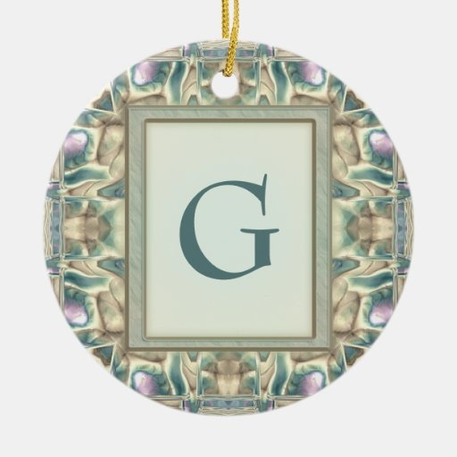 Mother of Pearl Ceramic Ornament