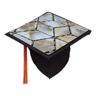 Mother of Pearl Design Graduation Cap Topper