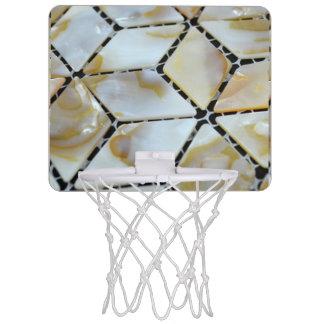 Mother of Pearl Design Mini Basketball Hoop