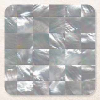 Mother of Pearl Design Square Paper Coaster