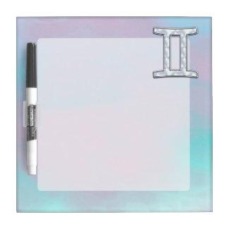 Mother of Pearl Gemini Zodiac Symbol Dry Erase Board