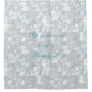Mother Of Pearl Mosaic Bathroom Shower Curtain