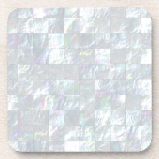 Mother Of Pearl Mosaic Beverage Coaster
