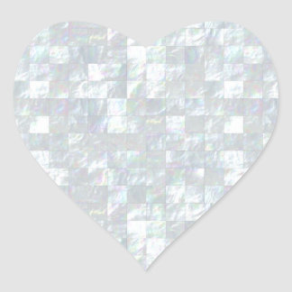 Mother Of Pearl Mosaic Heart Sticker
