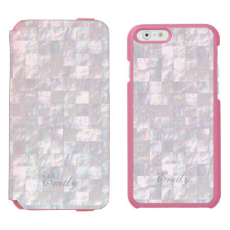 Mother Of Pearl Mosaic iPhone 6/6s Wallet Case