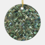 Mother of Pearl Mosaic Jade Green Marble Tile Oil Ceramic Ornament