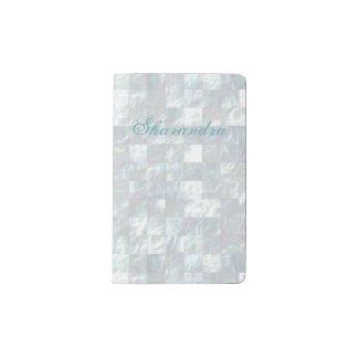 Mother Of Pearl Mosaic Pocket Moleskine Notebook Cover With Notebook