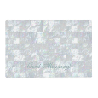 Mother Of Pearl Mosaic Laminated Place Mat