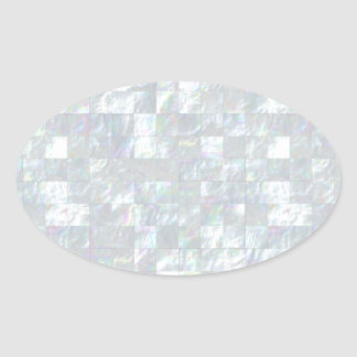 Mother Of Pearl Mosaic Oval Sticker