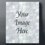 "Mother Of Pearl Mosaic Plaque<br><div class=""desc"">The image of a beautiful mother of pearl mosaic makes this case a special gift. You can personalize it with a name.</div>"
