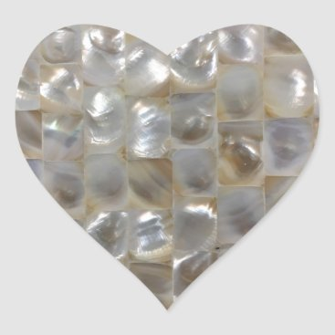 Beach Themed Mother of Pearl Mosaic Sticker