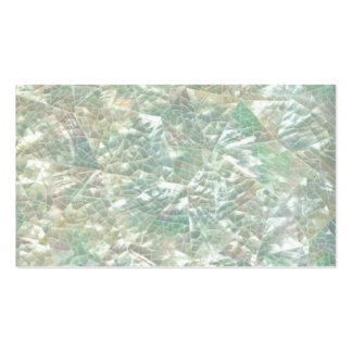 Mother of Pearl Opal Crackle Mirror Iridescent Bro Business Card Template