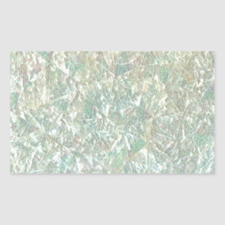 Mother of Pearl Opal Crackle Mirror Iridescent Rectangular Sticker