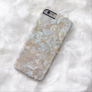 Mother Of Pearl Pink Triangle Tiled Barely There iPhone 6 Case