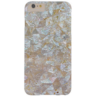 Mother Of Pearl Pink White Triangle Tiled Barely There iPhone 6 Plus Case
