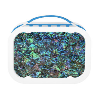 MOTHER OF PEARL PRINT Blue Green Lunch Box