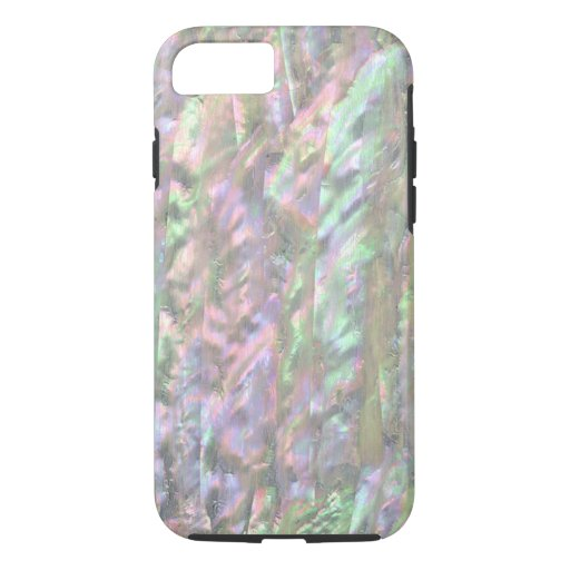 MOTHER OF PEARL PRINT Pink Green iPhone 8/7 Case