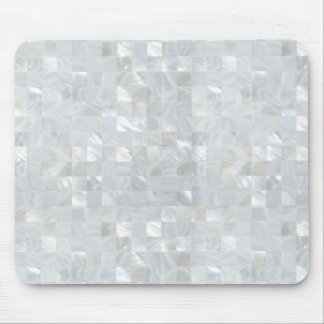 MOTHER OF PEARL PRINT White Mouse Pad