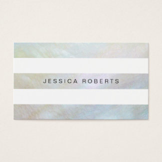 Mother of Pearl Stripes Elegant Simple Pattern Business Card