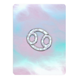 Mother of Pearl Style Cancer Zodiac Card