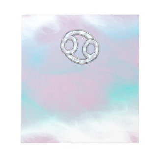 Mother of Pearl Style Cancer Zodiac Sign Decor Notepad