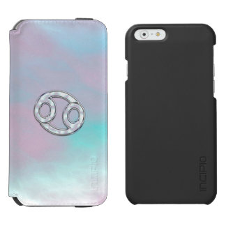 Mother of Pearl Style Cancer Zodiac Symbol iPhone 6/6s Wallet Case