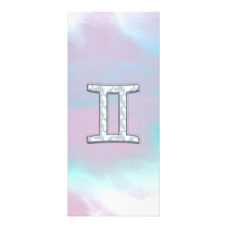 Mother of Pearl Style Gemini Zodiac Sign Rack Card