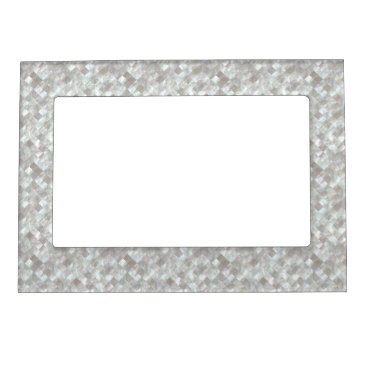 stylish_home Mother of Pearl Style. Magnetic Photo Frame