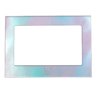 Mother of Pearl Taurus Zodiac Astrology Magnetic Picture Frame