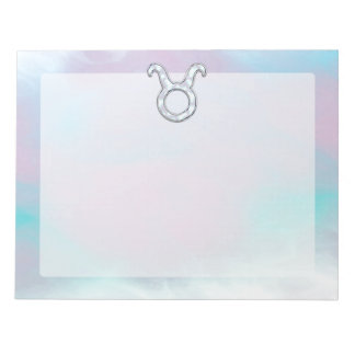 Mother of Pearl Taurus Zodiac Astrology Note Pad