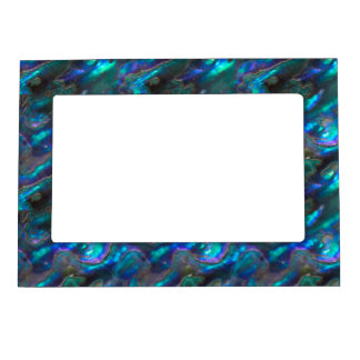 Mother Of Pearl Texture Blue Photo Pattern Magnetic Photo Frame