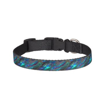 Beach Themed Mother Of Pearl Texture Blue Photo Pattern Pet Collar